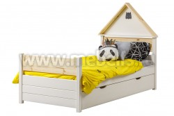 Кровать детская домик №29 80х160 с ящиком из массива