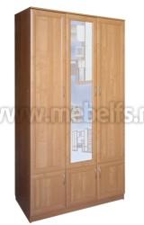 Шкаф для одежды трехстворчатый с зеркалом (О).