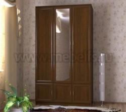 Шкаф для одежды трехстворчатый с зеркалом (ОЭ).