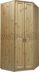 Угловой шкаф Константин из сосны (2х дверный).
