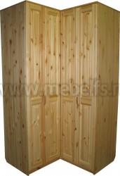 Угловой шкаф из массива Герман (4х дверный).