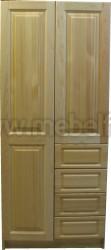 Шкаф из сосны Оскар-2 (2х дверный с ящиками).