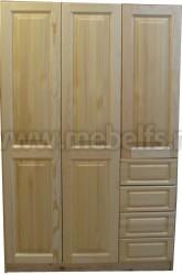 Шкаф Оскар-3 (3х дверный с ящиками) из сосны
