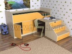 Кровать чердак с рабочей зоной Кузя-2 (ДМО).