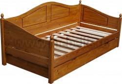 Кровать-тахта К3 (80х190) с большим ящиком.