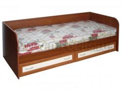 Кровать тахта односпальная с ящиками, рамка МДФ (ЯВ).