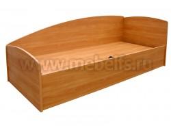Односпальная кровать тахта с отсеками для белья (О).