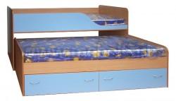 Детская двухъярусная выдвижная кровать с ящиками Дуэт-2 (БС).