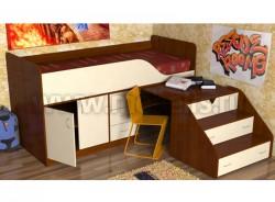 Кровать чердак с рабочей зоной Кузя-2 (ЯВ).