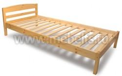 Односпальная кровать Лена-1 из массива (90х200см).