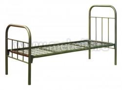 Металлическая кровать армейская (квадр.зв.) 74х190см.