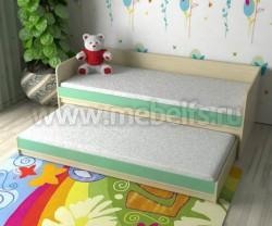 Двухъярусная кровать для двоих детей Дуэт-7 (ДМЗ).