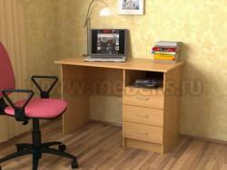 Стол письменный однотумбовый с тремя ящиками
