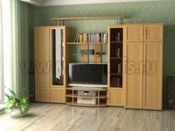 Мебельная стенка Веста (шкаф) для гостиной.