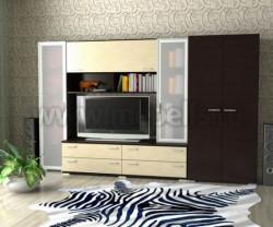 Мебельная стенка Двина (шкаф) для гостиной.
