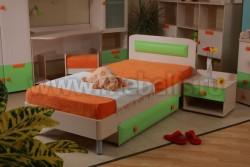 Кровать детская с ящиком ИЗД№10 (МДК№4.6).