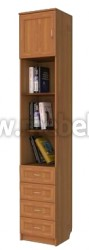 Шкаф для книг комбинированный с ящиками арт.316