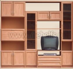 Мебельная стенка Коралл (без шкафа) для гостиной.