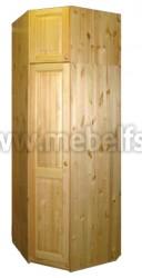 Шкаф угловой Оскар 880 с антресолью 51см из сосны