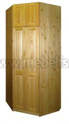 Шкаф угловой Оскар 1020 с антресолью 51см из сосны