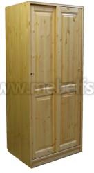 Шкаф-купе двухдверный для одежды Оскар-2 из сосны.