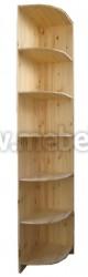Стеллаж угловой Оскар из массива сосны (40x58x241см).