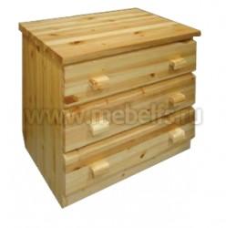 Комод Скандинавия (3 ящика) из массива сосны.