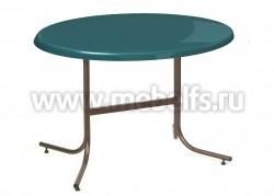 Стол обеденный овальный Дуолит-металлик (1100х700)