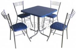 Квадратный обеденный стол Дуолит-металлик (780х780)
