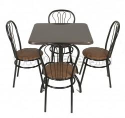 Стол обеденный квадратный  Дуолит-блестки (650х650)