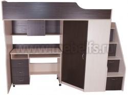 Кровать чердак с рабочей зоной Умка-202 (ДМ/В).