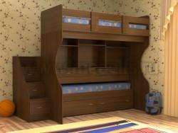 Двухъярусная кровать со столом Дуэт-4 (ОЭ).