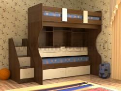 Двухъярусная кровать со столом Дуэт-4 (ОЭВ).