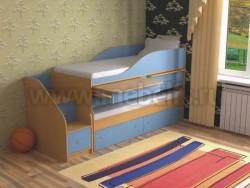 Двухъярусная кровать для двоих детей Дуэт-8 (БС).
