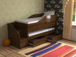 Двухъярусная кровать для двоих детей Дуэт-8 (ОЭ).