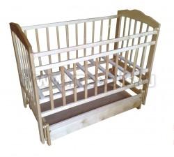 Детская кроватка маятник поперечный Ника (с ящиком).