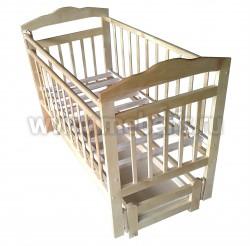 Детская кроватка маятник продольный Ника (с ящиком).