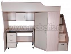 Кровать чердак с рабочей зоной Умка-202 (ДМВА).