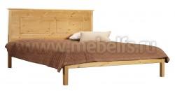 Двуспальная деревянная кровать T1 (Тора) 140х200 из сосны.