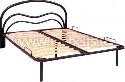 """Металлическая двуспальная кровать """"Волна-1"""" 160х200см."""