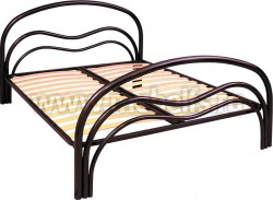 """Двуспальная металлическая кровать """"Волна-2"""" 1600х1900мм."""