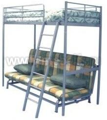 """Кровать чердак """"Карлсон"""" металлическая с диваном."""