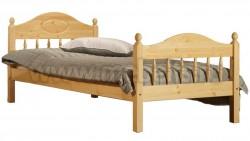 Кровать односпальная детская F2 60х140 из сосны.