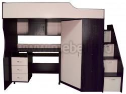 Кровать чердак с рабочей зоной Умка-202 (В/ДМ).
