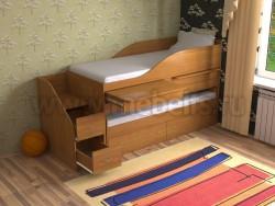 Двухъярусная кровать для двоих детей Дуэт-8 (О).