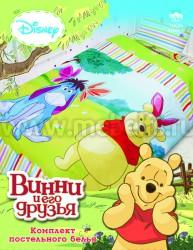 Детское постельное белье Винни Пух и Ослик (арт.521255).