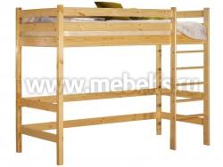 Кровать-чердак Классика 70x150см с игровой зоной из массива сосны