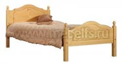Односпальная кровать К2 120x200 из массива дерева.