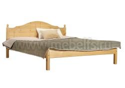 Кровать двуспальная деревянная К1 140х200 из сосны.
