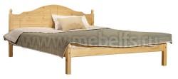 Кровать двуспальная деревянная К1 180х200 из сосны.